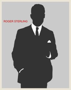 Roger Sterling, even his cartoon silhouette is sexy.