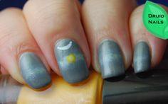 Nail Art Ideas Linkup - December - Winter Solstice by Druid Nails