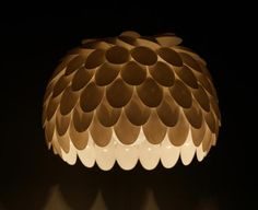 Light made of plastic spoons