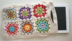 crocheted i-pad case