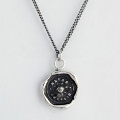 Never Despair Talisman Necklace - This handcrafted wax seal necklace features a single eye which is a symbol of protection, knowledge and foresight. The seal reads Never Despair.