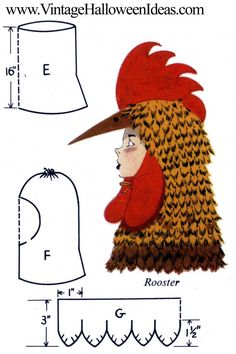Rooster Halloween Costume To Make Halloween Costumes To Make, Mardi Gras Costumes, Hallowen Costume, Halloween Kostüm, Rooster Costume, Bird Costume, Chicken Hats, Chicken Costumes, Dress Up Costumes