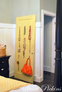 Old Door turned Jewelry Holder