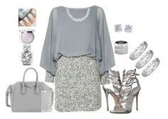 """""""A little grey"""" by caradianne on Polyvore featuring Lace & Beads, Giuseppe Zanotti, Givenchy, Guerlain, Victoria's Secret, Effy Jewelry, Henri Bendel, Tiffany & Co., women's clothing and women"""