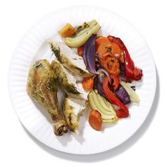Lemon-Fennel Roasted Chicken and Veggies #healthyfamilydinners