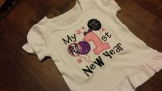 Girls 1st New Years shirtFREE SHIPPING by SouthernBlingBowtiqu, $23.00