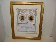 Antique Victorian 1872 Gilt Framed Prang by PastPossessionsOnly, $39.95