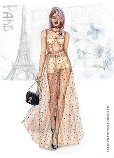 Moda Fashion, Fashion Art, Fashion Models, Face Fashion, Fashion Prints, Couture Fashion, Fashion Shoes, Vintage Fashion, Fashion Drawing Dresses