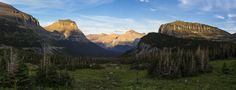 Logan Pass Parking Lot View Panorama, Glacier National Park, Montana - photo by Jacob W. Frank (pinned by haw-creek.com)