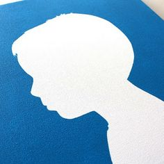 DIY canvas silhouette.