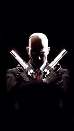 Agent 47, Joker And Harley Quinn, Video Game Characters, Video Game Art, Cool Wallpaper, Conan, Assassin, Mafia, Fantasy Art