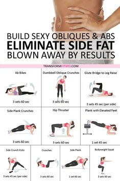 Best Exercise to Eliminate Side Fat and Build Sexy Obliques & Abs! Ab blast home workout. This is a quick and intensive abs workout that engages all of the muscles of your core. Exercise Fitness, Fitness Herausforderungen, Fitness Workout For Women, Female Fitness, Health Fitness, Physical Fitness, Lower Ab Workout For Women, Fitness Exercises, Core Workout Women