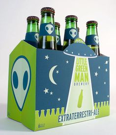 Little Green Man Brewery  Designed by Bryan Barham