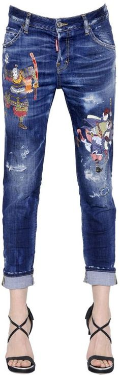 Cool Girl Destroyed Denim Jeans