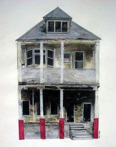 Abandoned XIII Drawing - Seth Clark