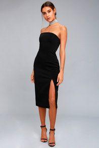 c0f4b5c8e54fb Lulus | Hey Baby Burgundy Velvet Strapless Bodycon Midi Dress | Size ...