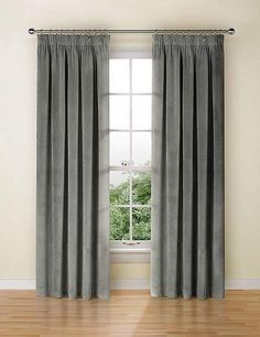 Shop this Velvet Pencil Pleat Curtains at Marks & Spencer. Browse more styles at Marks & Spencer US Curtains Ready Made, Pleated Curtains, Grey Velvet Curtains, Free Fabric Samples, Elegant Living Room, Pencil Pleat, Living Room Interior, Bedding Sets, Home Furnishings