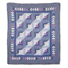 Patch Magic Sail Log Cabin Throw Quilt - THSLC
