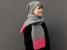 Tutoriale DIY: Cómo hacer una bufanda de dos tonos con punto de musgo vía DaWanda.com