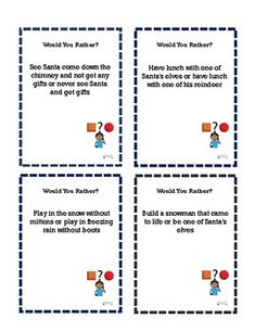 Would You Rather Task Cards Winter To Stimulate Discussions