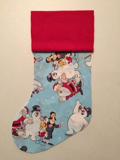Frosty the Snowman Christmas Stocking by MLGsCrafts on Etsy