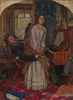 The Awakening Conscience, painted by William Holman Hunt, 1853, oil on canvas, Tate Collection, London, UK.