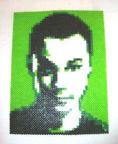 Perler Bead Portrait  SHELDON COOPER by MostFavoriteAunt