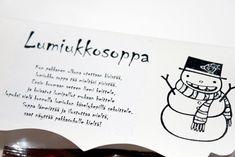 Lumiukkosoppa - Innolla Place Cards, Place Card Holders, Christmas, Gifts, Gift Ideas, Xmas, Presents, Navidad, Noel