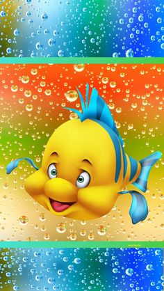 COLORFUL CARTOON FISH, IPHONE WALLPAPER BACKGROUND