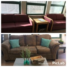 Staff lounge makeover for staff appreciation week. Best PTA ever! Staff Lounge, Staff Appreciation, Pta, Couch, Furniture, Home Decor, Settee, Decoration Home, Sofa