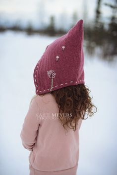 Dandelion Pixie Hat PDF Pattern - Sizes Infant to age 10