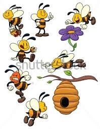 Resultado de imagem para abelhas animadas