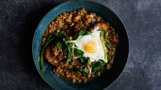 Carrot, Lentil and Egg Stew with Parmesan and Bread. Poaching eggs right in the stew is so obviously genius, we are still trying to figure out why we didn't think of this recipe sooner. Fall Soup Recipes, Lentil Recipes, Vegetarian Recipes, Cooking Recipes, Healthy Recipes, Healthy Eats, Egg Recipes, Weeknight Recipes, Spinach Recipes