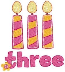 Birthday Girl 3, SWAK Pack - 2 Sizes! | Birthday | Machine Embroidery Designs | SWAKembroidery.com Bunnycup Embroidery