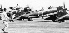 A6M Zero fighters of Japanese Navy Genzan Air Group at Genzan (now Wonsan), Korea, 1940-1941