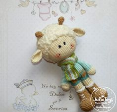 Spring Lamb crochet pattern  This is a crochet pattern PDF - NOT the actual finished doll at the photos! The pattern is available in ENGLIS...