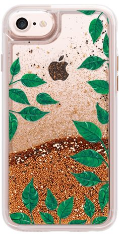 Casetify iPhone 7 Wallet Case - dark green leaves - clear case by Carla Zancanaro  #Casetify #iphonecase #botanica l#glitter #glittercase #leaves #green #clearcase #iphone7 #iphone6 #phonecase #tropical #festival #summer #spring