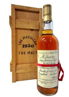 Macallan Single Highland Malt 1950 Whisky Bar, Bourbon Whiskey, Scotch Whisky, Macallan Whisky, Single Malt Whisky, Cigars, Whiskey Bottle, Wines, Liquor