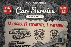 DGIM graphic design studio on Behance. Download car service vector designs and an awesome seamless pattern on www.dgimstudio.com. You will find the link in your Behance project. #vector #vectorillustration #behance #car #auto Service Logo, Service Design, Service Car, Business Brochure, Business Card Logo, Vector Design, Logo Design, Graphic Design, Design Art