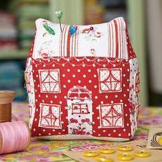 pin cushion house | Little house pin cushion