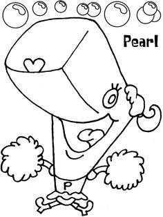 Pearl from Spongebob coloring sheet
