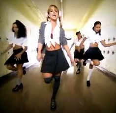 We weren't allowed to wear knee socks because of this music video.