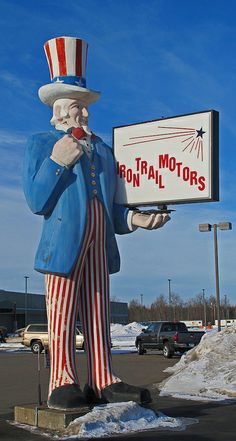 Giant Uncle Sam at Virginia, Minnesota