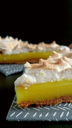 Tarte au citron meringuée… vegan ! Plus