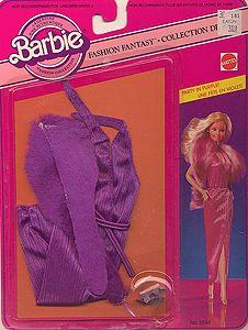 1982 Barbie - Party 🎉 In Purple (Fashion Fantasy Collection) # ? Old Barbie Dolls, 1980s Barbie, Vintage Barbie Clothes, Beautiful Barbie Dolls, Mattel Barbie, Barbie And Ken, Doll Clothes, Barbie Style, Barbie Dream