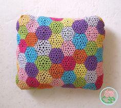 Crocheted Pillow case