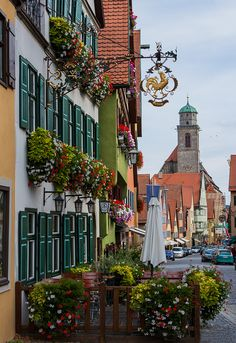 Dinkelsbühl (Bayern), #Germany. Typical Bavarian town square exemplified perfectly in this photo. Visited 1999.