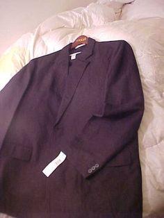 Perry Ellis 3 pc Black Suit New NWT 36