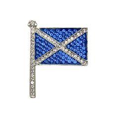 Butler & Wilson Swarovski Crystal Scottish Flag Brooch