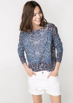Paisley cotton sweater